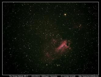 The Omega Nebula (M17) - 2012/09/13