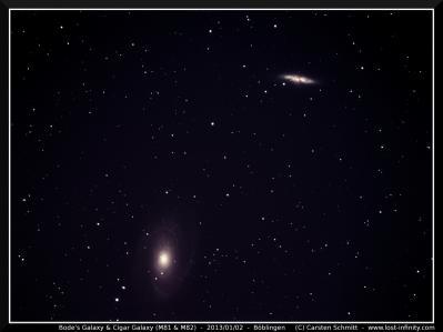 Bode's Galaxy & Cigar Galaxy (M81 & M82)
