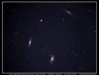 Spiral Galaxy M65 & 66 and Hamburger Galaxy NGC3628 - 2013/04/01