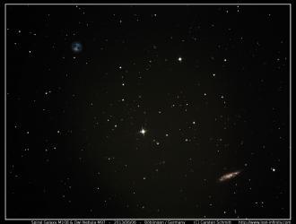 Owl nebula M97 and spiral galaxy M108 - 2013/06/06