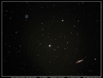 Owl nebula M97 and spiral galaxy M108 - 2013/06/06