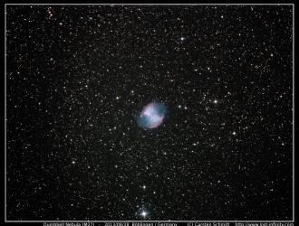 Dumbbell Nebula (M27) - 2013/08/28