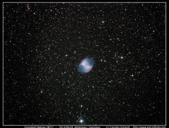 Dumbbell Nebula (M27) - 2013/08/28