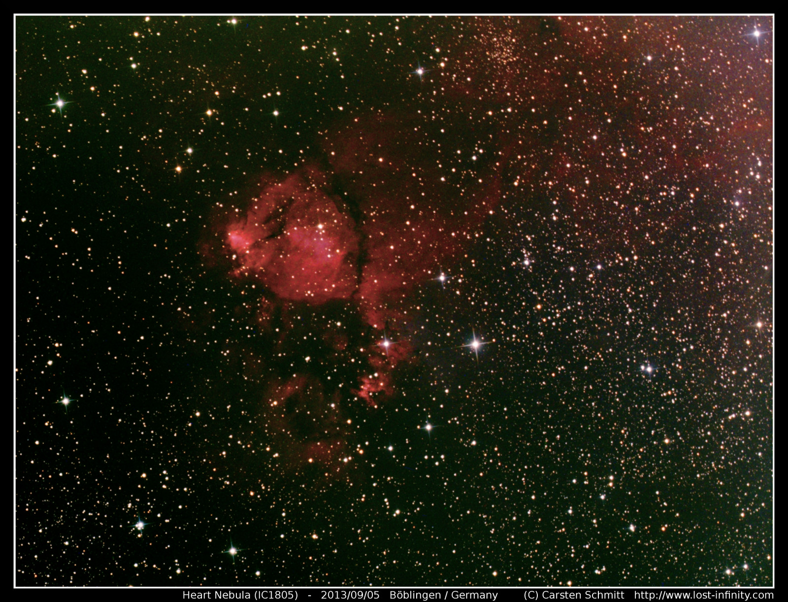 astrophotography heart nebula ic1805 lost infinity. Black Bedroom Furniture Sets. Home Design Ideas