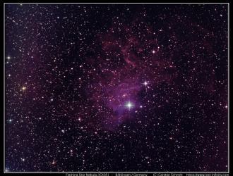 Flaming Star Nebula (IC405) - 2015/02/12