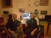 The observers inside the Tacande Observatory, La Palma, Spain