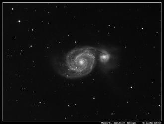 Messier 51 - The Whirlpool Galaxy IR only