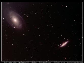 Bode's galaxy (M81) and Cigar galaxy (M82) - 2015/05/18