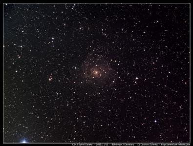 IC342 Spiral Galaxy - 2015/11/11