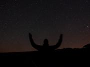 Me at Roque de Los Muchachos at night