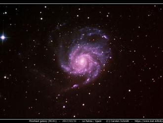 Pinwheel galaxy M101 - 2017/03/31