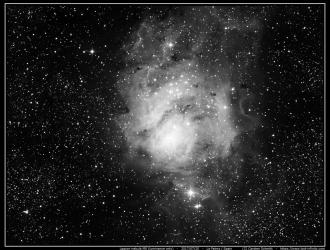 Lagoon nebula (M8) - Luminance only - 2017/07/20