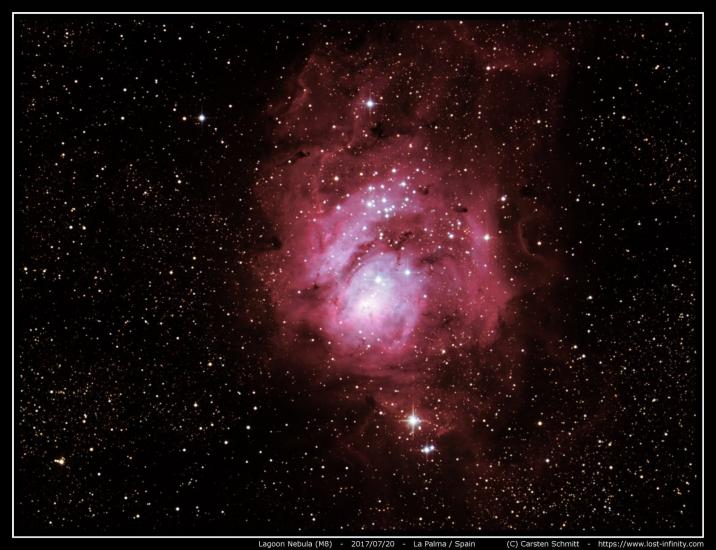 Lagoon nebula (M8) - 2017/07/20