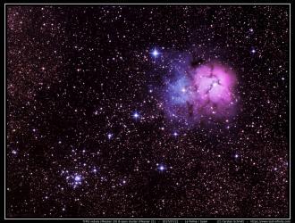 Trified nebula (M20) & open cluster M21 - 2017/07/22