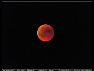 Blood moon with Canon PowerShot SX710 HS