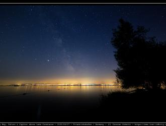 Milkyway, Saturn and Jupiter above Lake Constance - 2020/08/07