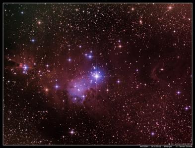 NGC2264 - Cone Nebula & Christmas Tree Cluster - 2015/03/11